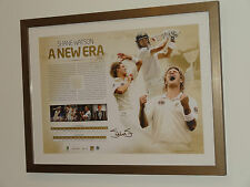 Official Signed Australia Cricket ACB Shane Watson + Matchworn Piece Framed