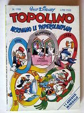 Topolino n.1705 * 31 lug 88 * con adesivi * Walt Disney - Mondadori