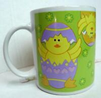 Easter Coffee Mug Yellow Chicks in Easter Eggs Seasonal