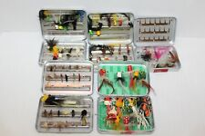 1 Wheatley~3 Perrine~Small Fly Fishing Containers Boxes~75+ Flies Nymph~Pan Bass