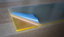 1 Platte Acrylglas fluoreszierend gelb Orange 73x320x3mm  transparent
