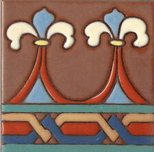Hand Painted Ceramic Tile Fenice 'A' 6x6