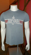 Mens Small Light Blue Crew Neck Graphic Front Short Sleeve T Shirt by Burton