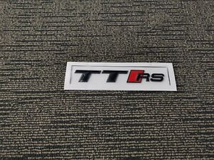 Gloss Black Audi TT RS Emblem Badge OEM Style Size Rear Logo Replacement Decal