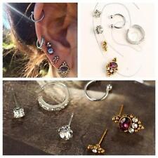 6PCs/Set Women Helix Ear Cartilage Cuff Piercing Jewelry Punk Stud Earrings Set