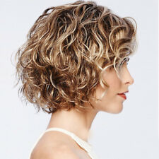 Fashion Women Short Blonde Synthetic Wig Hair Curly Wigs Full Wigs Bangs Cosplay