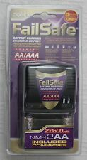 Dorcy FailSafe AA/AAA Battery Charger 2 NiMH AA Batteries Included 5 Hour Charge