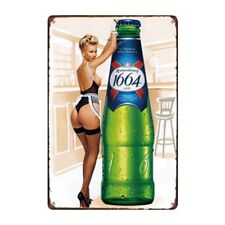 Metal Tin Sign 1664 beer Bar Pub Home Vintage Retro Poster Cafe ART