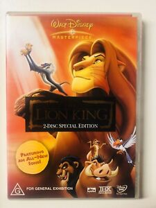 The Lion King DVD (PAL Region 4 2015, 2 Disc Special Edition) FREE POST