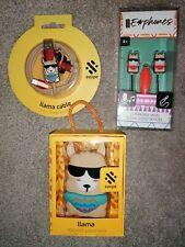 Llama Girls Audio Earphones, Charging Cable Brand NEW Bundle Gift