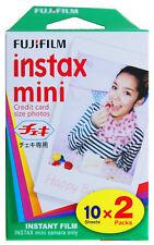 Bipack 2 Películas Fujifilm mini Instax de 10 pose colores