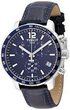 Tissot Men's Quickster T095.417.16.047.00 Blue Leather Swiss Quartz Watch
