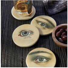 JOHN DERIAN for Target Threshold Mysterious Gaze Ceramic Eye Coasters Set NWT
