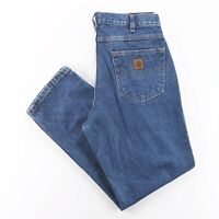 Vintage CARHARTT  Blue Denim Relaxed Straight Jeans Mens W34 L30