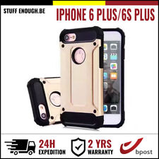 Gold Plate Armor Cover Cas Coque Etui Silicon Hoesje Case For iPhone 6+ 6S+ Plus