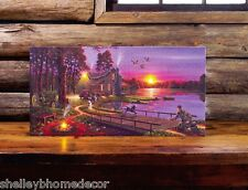 Soldier, Boy and Dog Military Homecoming Radiance Lighted Canvas 73171 NEW