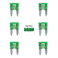 6x Mini Blade Fuse APM ATM 10A Amp Motorcycle Automotive Circuit Spade Set Kit