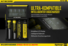 Nitecore  Digicharger D4 - Akkuladegerät für Li-Ion, LiFePo4, Ni-MH, Ni-CD Akkus