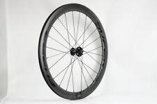 coppia ruote(50mm*700c)da corsa in fibra carbonio 3K con disco freno