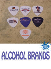 Alcohol brand  SINGLE SIDED PICTURE GUITAR PICKS  Set of 7