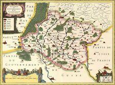 Reproduction carte ancienne - Comté de Champagne XVIIè