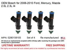4 Fuel Injectors for 06-10 Ford, Mercury, Mazda 2-2.3L I4 OEM Bosch #0280158105