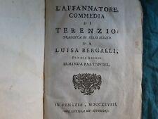 1728. L'Affannatore: commedia di Terenzio tradotta da L. Bergalli