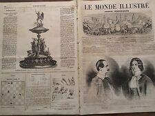 LE MONDE ILLUSTRE 1862 N 291  ROI OTHON ET LA REINE FREDERIQUE- AMELIE DE GRECE