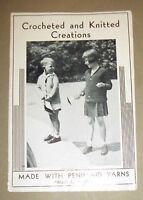 Crocheted and Knitted Creations (Leaflet, By Fliesher) 1956