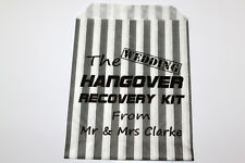 Hangover Recovery Kit Personalised Printed Bags 5x7 inch Hang Over Sweet Bags