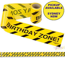 CONSTRUCTION PARTY SUPPLIES BIRTHDAY ZONE WARNING TAPE BANNER DECORATIONS
