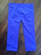 Ivivva Girls Crop Capri Seamless Compression Legging Pants Lululemon Purple 14