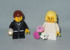 ***NEW LEGO WEDDING BLONDE FLOWER GIRL AND BROWN HAIR RING BEARER MINIFIGURES**