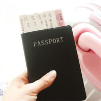 Travel Passport Holder Wallet Holder RFID Blocking Leather Card Case Cover