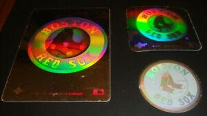1989 1990 1991 Upper Deck Vintage 90's Logo Hologram Stickers Boston Red Sox x3