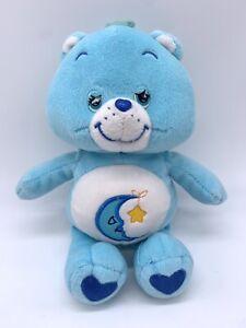 "2002 Care Bear Bedtime Plush Sleepy Moon Star Blue Stuffed Animal Toy 10"""