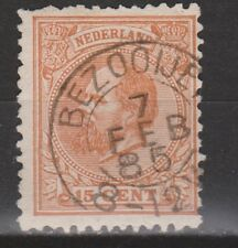 NVPH Netherlands Nederland 23 TOP CANCEL BEZOOIJEN Willem III 1872