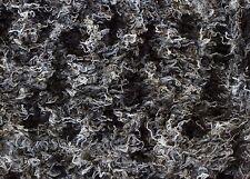 """Faux Fur Remnant - Mongolian Fur-Grey/Black - 12"""" X 60"""""""