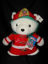 Nwt Dayton Hudson Marshall Fields Plush Santa Bear Fireman Fire Fighter 1996