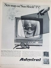 Lot of 3 Vintage 1960's Admiral TV Print Ads Sun-Shield Stratford Claridge