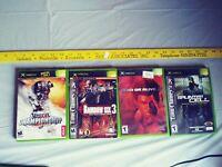 Xbox game lot Unreal, Rainbow 6, Dead or Alive 3, Splinter Cell