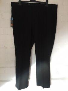 M&S Mens Trousers W/42in L/29in Regular Short Length Black RRP £19.50