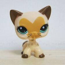 Hasbro #3573 Littlest Pet Shop LPS Tan Brown Heart Face Short Hair Cat Toys Rare