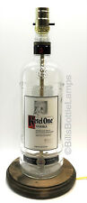 Ketel One Vodka Large 1.75L Liquor Bottle Table Lamp Light & Wood Base Bar Decor