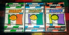 ERASURE GREATEST MIXES VOL 1, 2 & 3 Techno Pop COMPLETE SET URUGUAY ONLY TAPES!