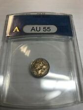 1855  Three Cent Silver , ANACS, AU55.  Scarce