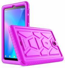 Alcatel Joy Tab 8 Tablet Case poeticsoft Cubierta Protectora De Silicona Púrpura