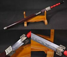 """Hand Forge Chinese Sword """"Wo Long Jian""""(劍) Alloy Fitting Carbon Steel #160"""