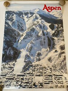 "Vintage Aspen Mountain Ski Poster 1974 Ajax 21"" x 29.5"" NEW 11132"