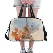 Unique Overnight Bag Paris Eiffel Tower Weekend Travel Bag Weekender Duffle